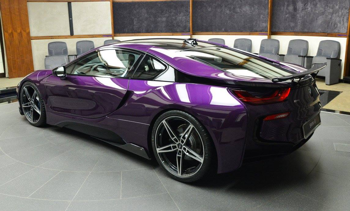 Bespoke Twilight Purple Bmw I8 Created By Abu Dhabi Dealer Carscoops