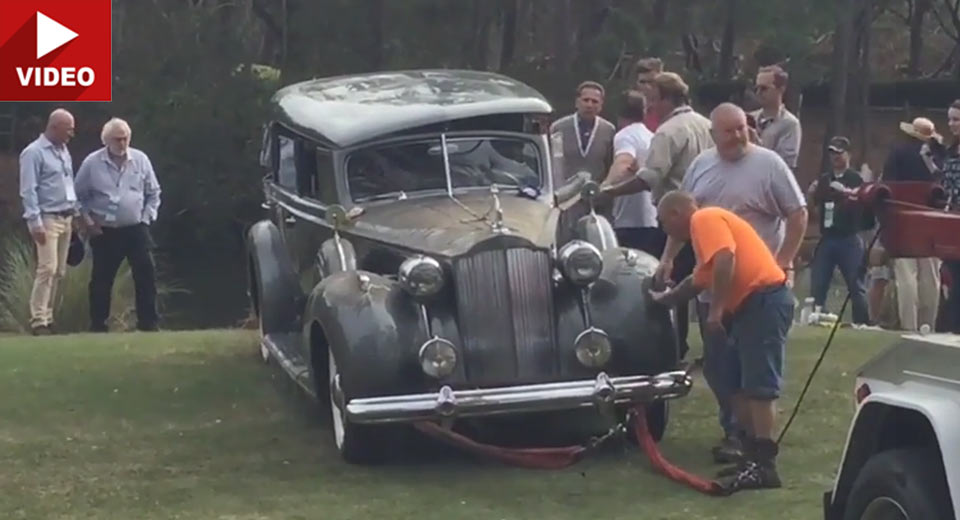 Rare Packard Super 8 Rolls Into Lake After Winning Prestigious ...