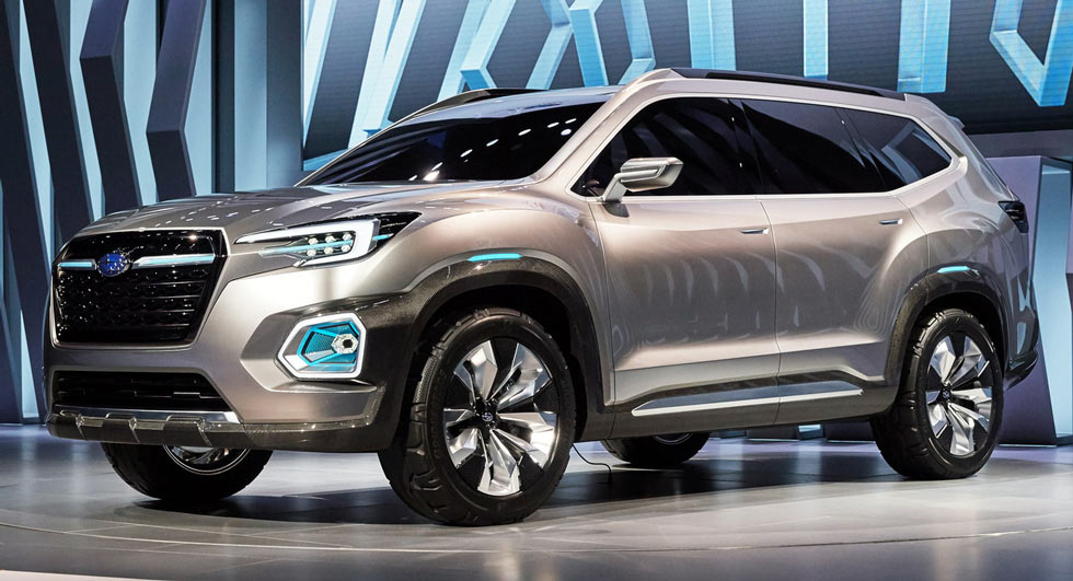 this is subaru 39 s new viziv 7 mid size suv concept and it rivals vw 39 s atlas carscoops. Black Bedroom Furniture Sets. Home Design Ideas