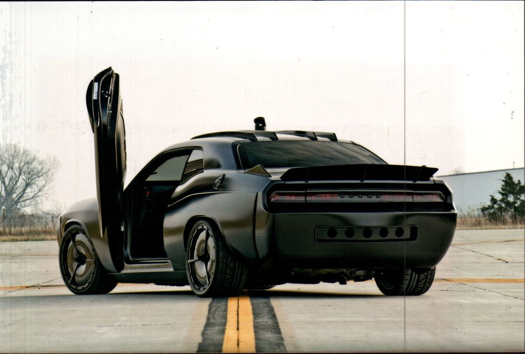 Anything But Stealthy Vapor Dodge Challenger Goes On