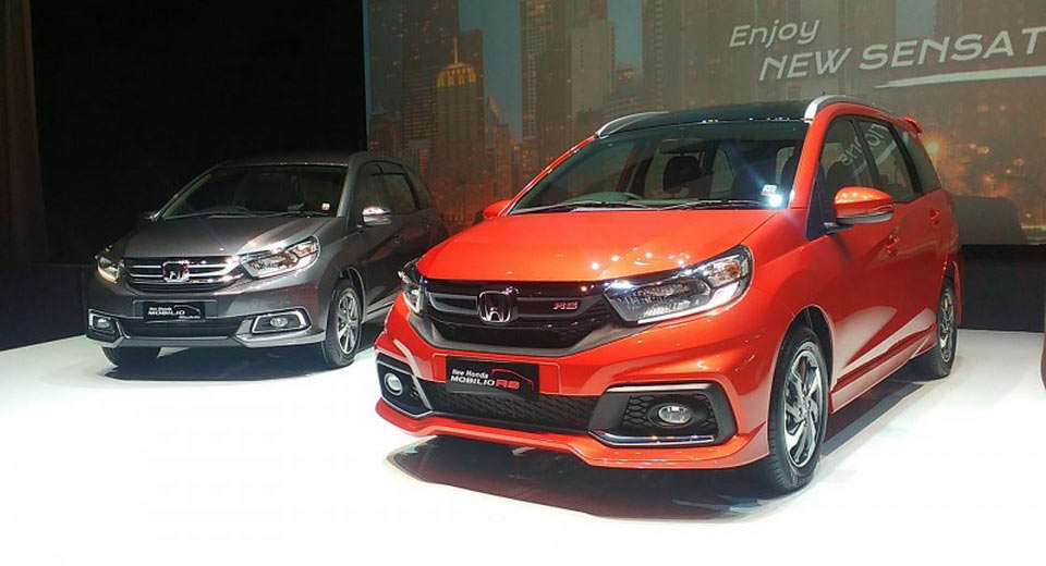 2017 Mobilio >> Honda Unveils 2017 Mobilio Mpv Packing A Few Styling Tweaks Carscoops