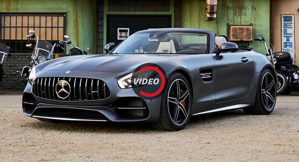 mercedes amg gt c roadster was born to be wild in super bowl 39 easy rider 39 spot carscoops. Black Bedroom Furniture Sets. Home Design Ideas