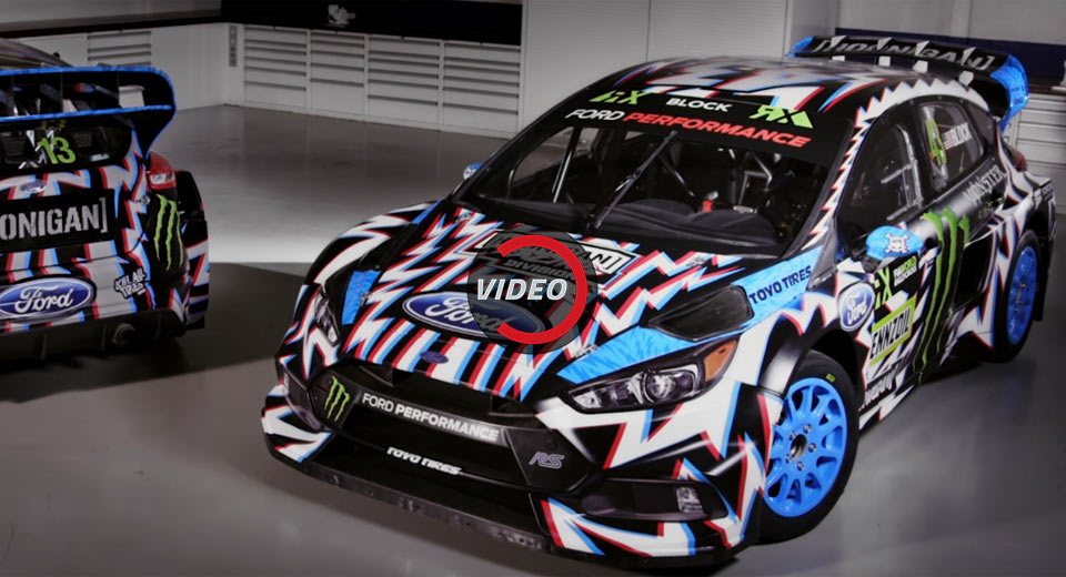ken block 39 s updated ford focus rs rx has a crazy livery carscoops. Black Bedroom Furniture Sets. Home Design Ideas