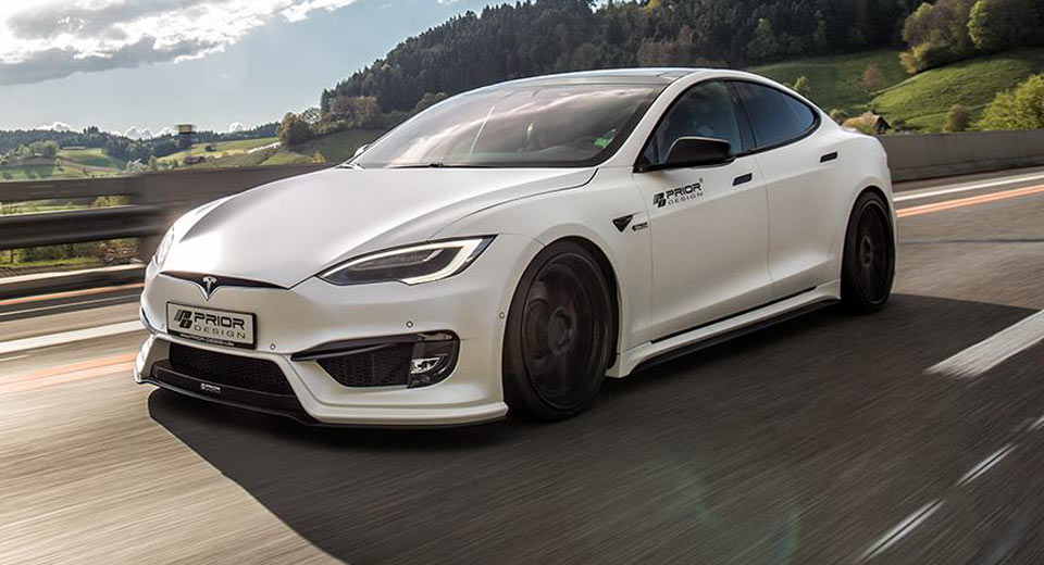 Tesla Model S Custom >> What Do You Think About Prior Design S Tesla Model S Carscoops