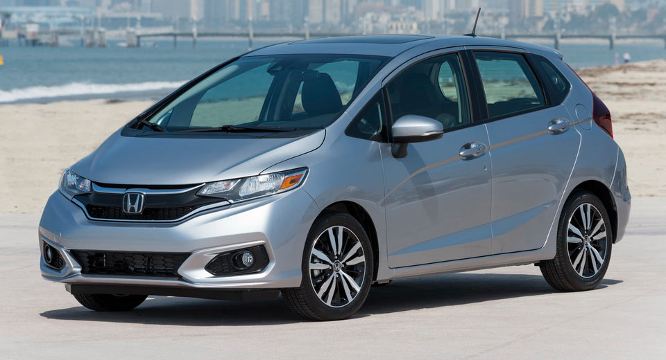 updated 2018 honda fit now on sale from 16 190 msrp carscoops. Black Bedroom Furniture Sets. Home Design Ideas