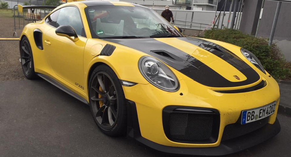 New Porsche 911 Gt2 Rs Looks Even Better In Yellow Carscoops