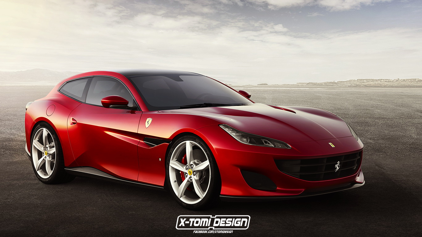 New Ferrari Portofino Gets A Virtual Fixed Roof Over Its