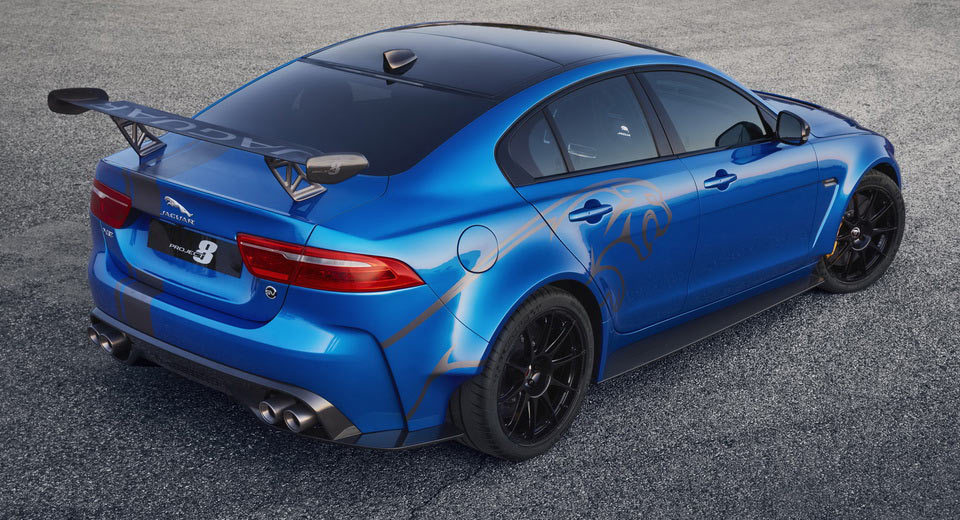 jaguar xe sv project 8 coming to monterey car week carscoops. Black Bedroom Furniture Sets. Home Design Ideas