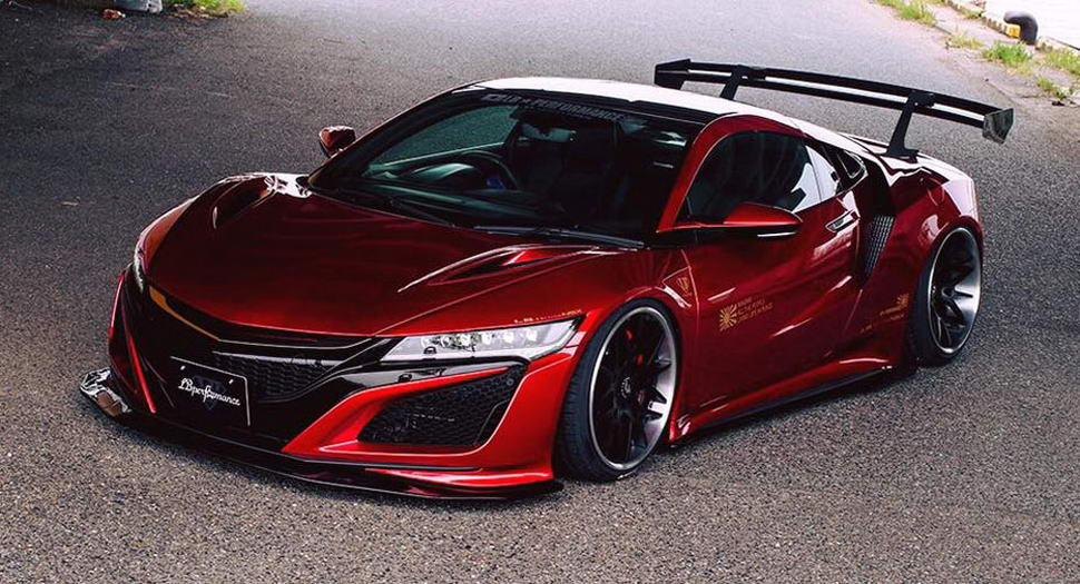 Liberty Walk Transforms Honda Nsx With Bold Bodykit Carscoops