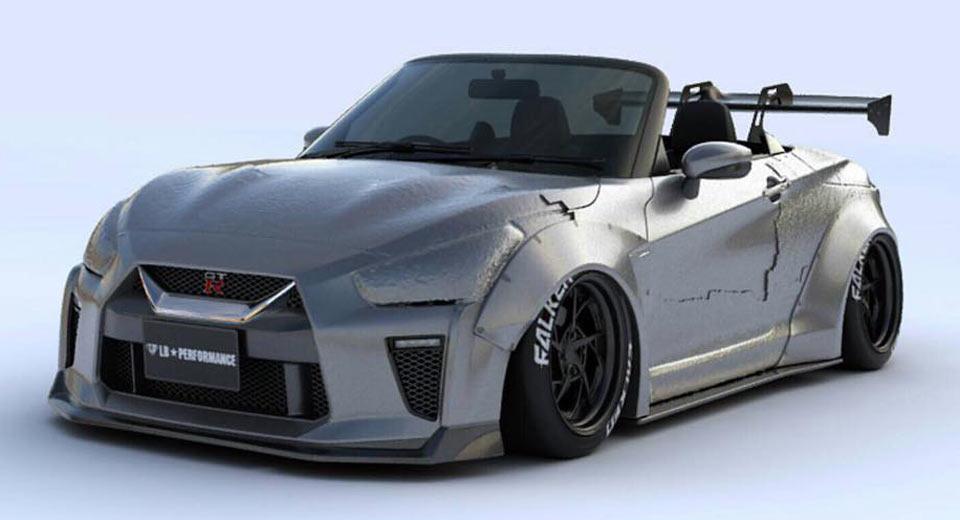 Daihatsu Copen Turned Into Mini Nissan GT-R By Liberty