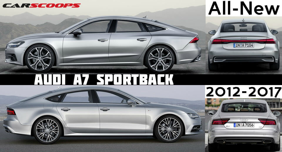 old vs new audi a7 does prologue styling make it worth the wait carscoops. Black Bedroom Furniture Sets. Home Design Ideas