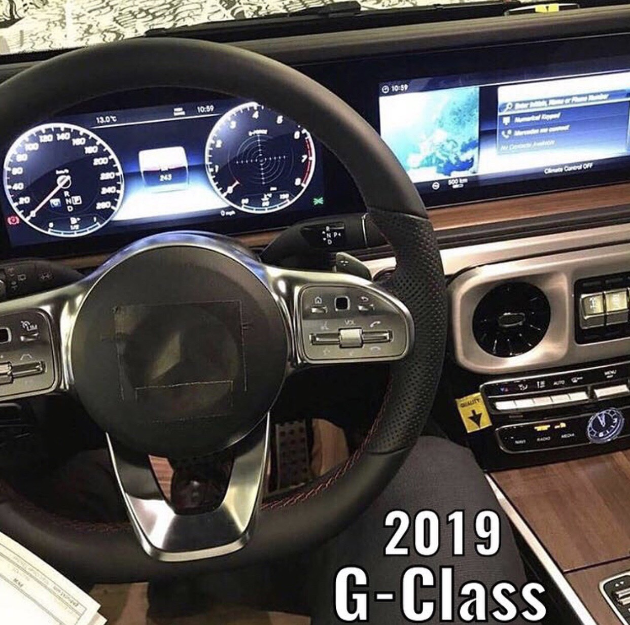 2019 Mercedes G-Class Interior Shows Up In New Leaked