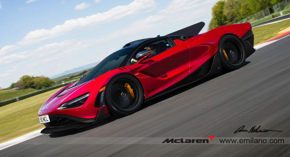 Mclaren 720s Rendered As A Crazy Long Tail Carscoops Com