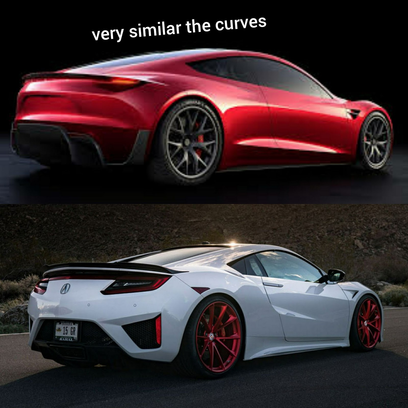 Car Design Student Thinks Tesla Copied Acura's NSX, What