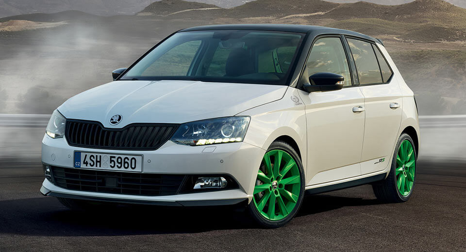 new skoda fabia limited edition looks rs good without actually being one carscoops. Black Bedroom Furniture Sets. Home Design Ideas