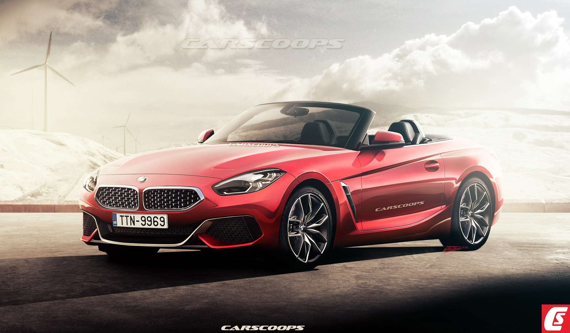 future cars 2019 bmw z4 roadster flips its lid carscoops. Black Bedroom Furniture Sets. Home Design Ideas