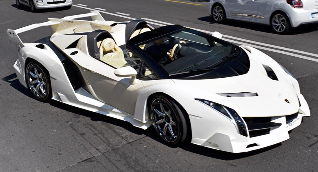 Cream Lamborghini Veneno Roadster Is An Eyesore Carscoops