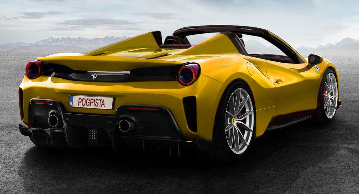 Ferrari 488 Pista Rendered As An Open Top Quot Aperta Quot Carscoops