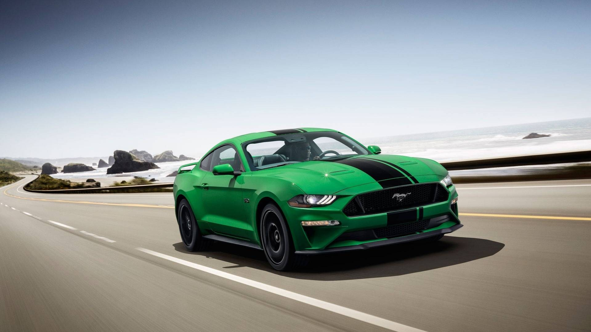 "Camaro Vs Mustang >> 2019 Ford Mustang Gets New ""Need For Green"" Color Option 