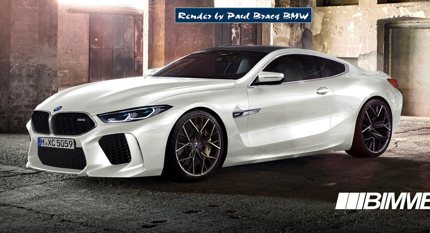2019 Bmw M8 Coupe More Realistically Rendered Carscoops