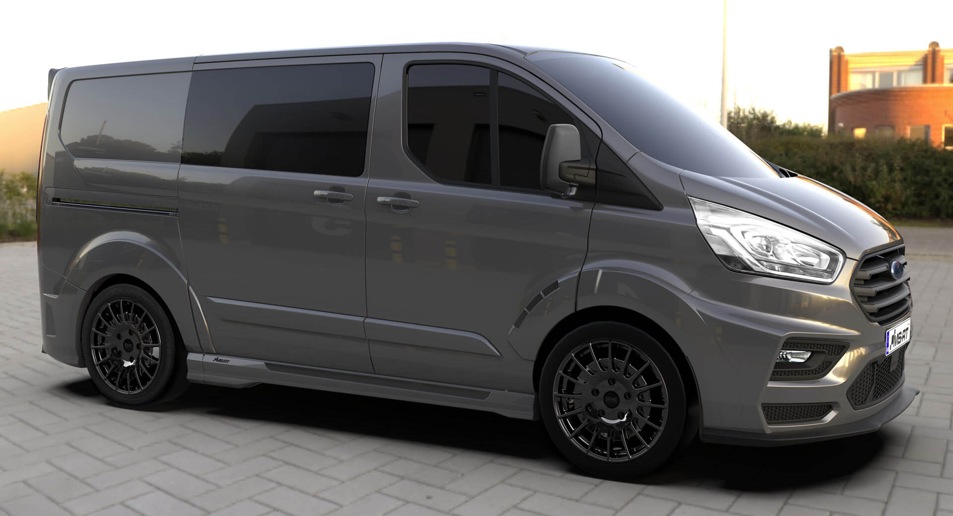 ms rt ford transit custom gets the job done in style carscoops. Black Bedroom Furniture Sets. Home Design Ideas