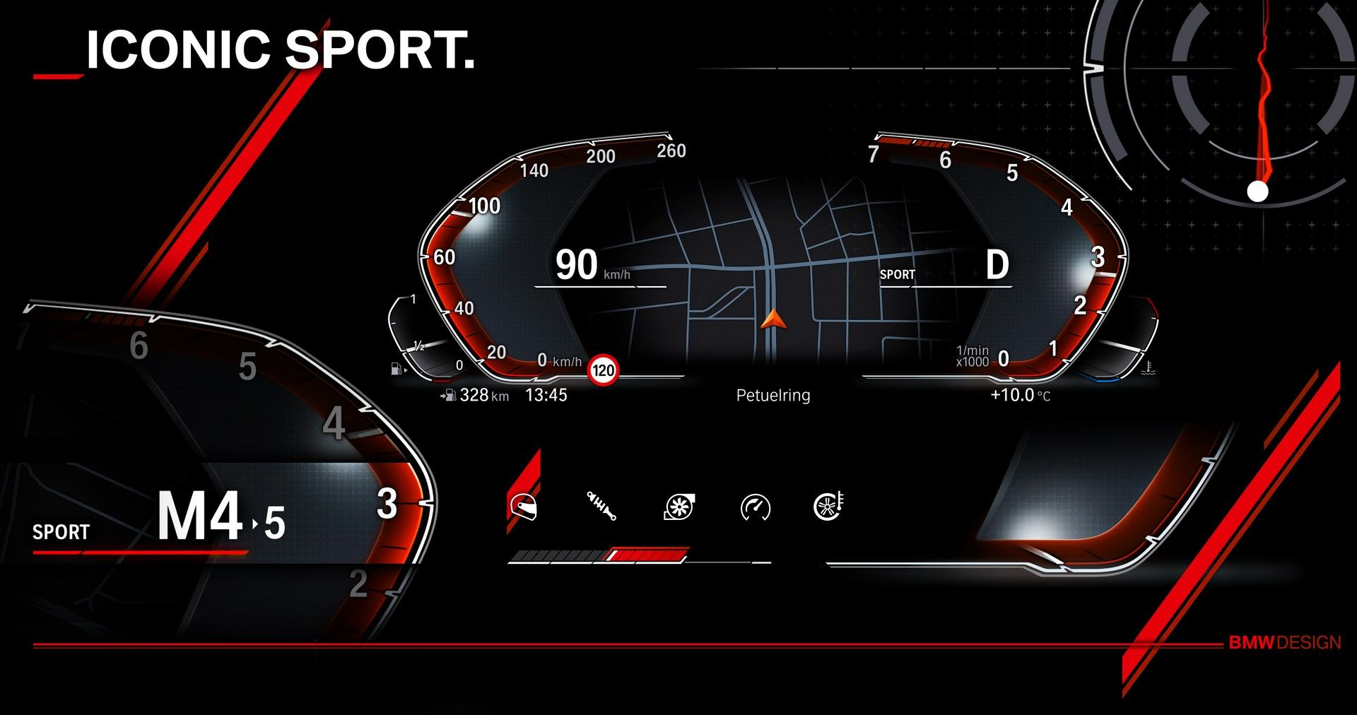 Here's a peek at BMW's new infotainment system and digital instrument cluster