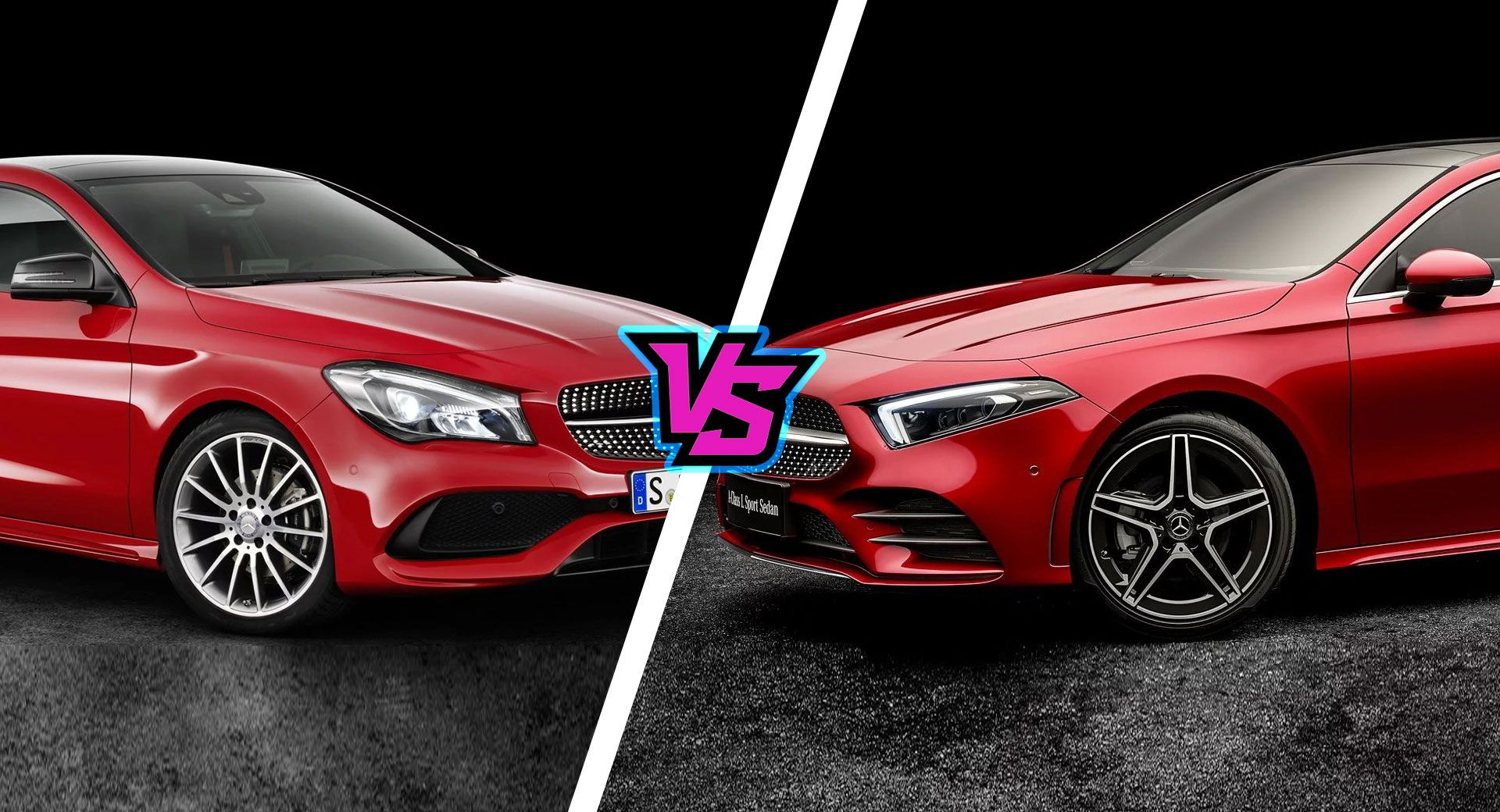 2019 mercedes a class sedan vs cla just how different are they carscoops. Black Bedroom Furniture Sets. Home Design Ideas