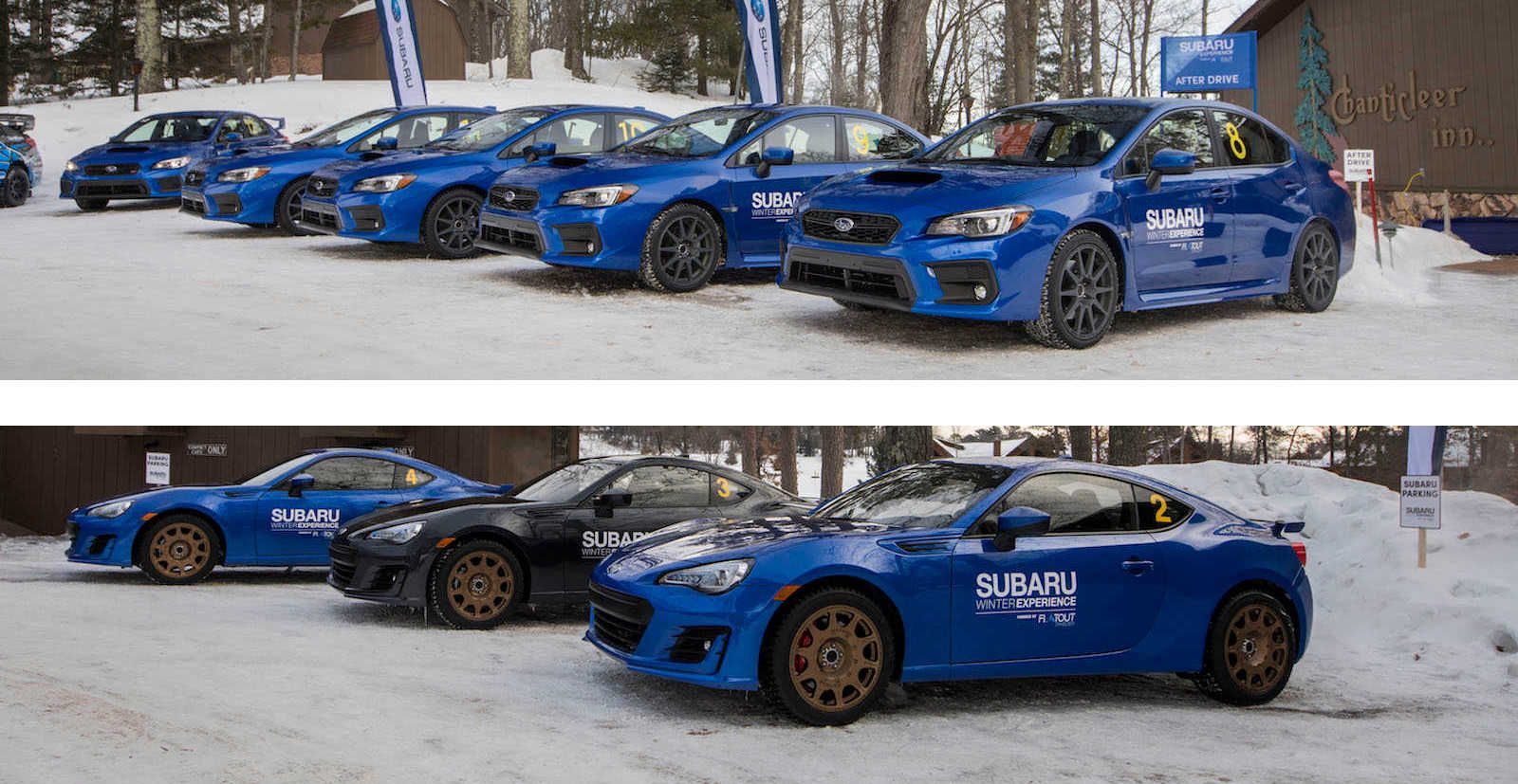 Subaru BRZ, WRX, and WRX STI Winter Driving Experience