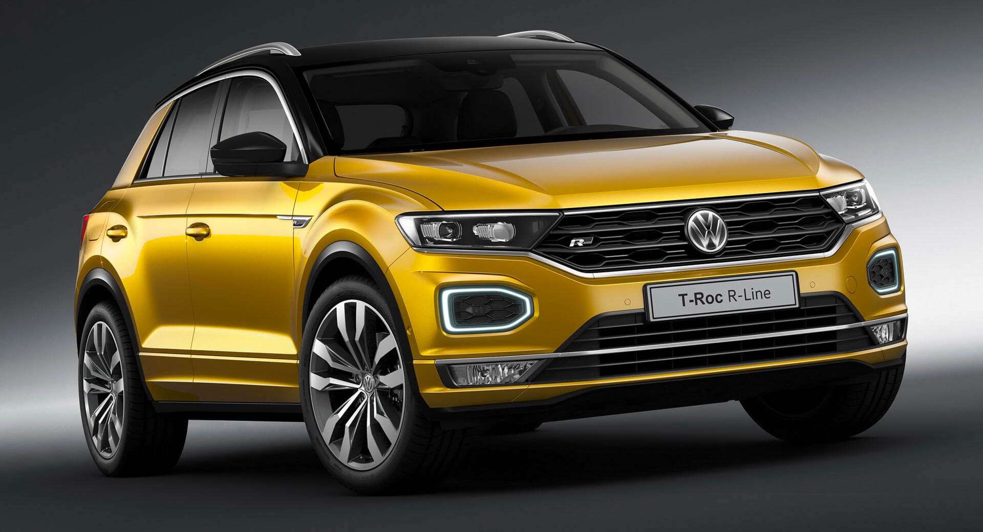 vw t roc and tiguan allspace try to look fast with r line. Black Bedroom Furniture Sets. Home Design Ideas