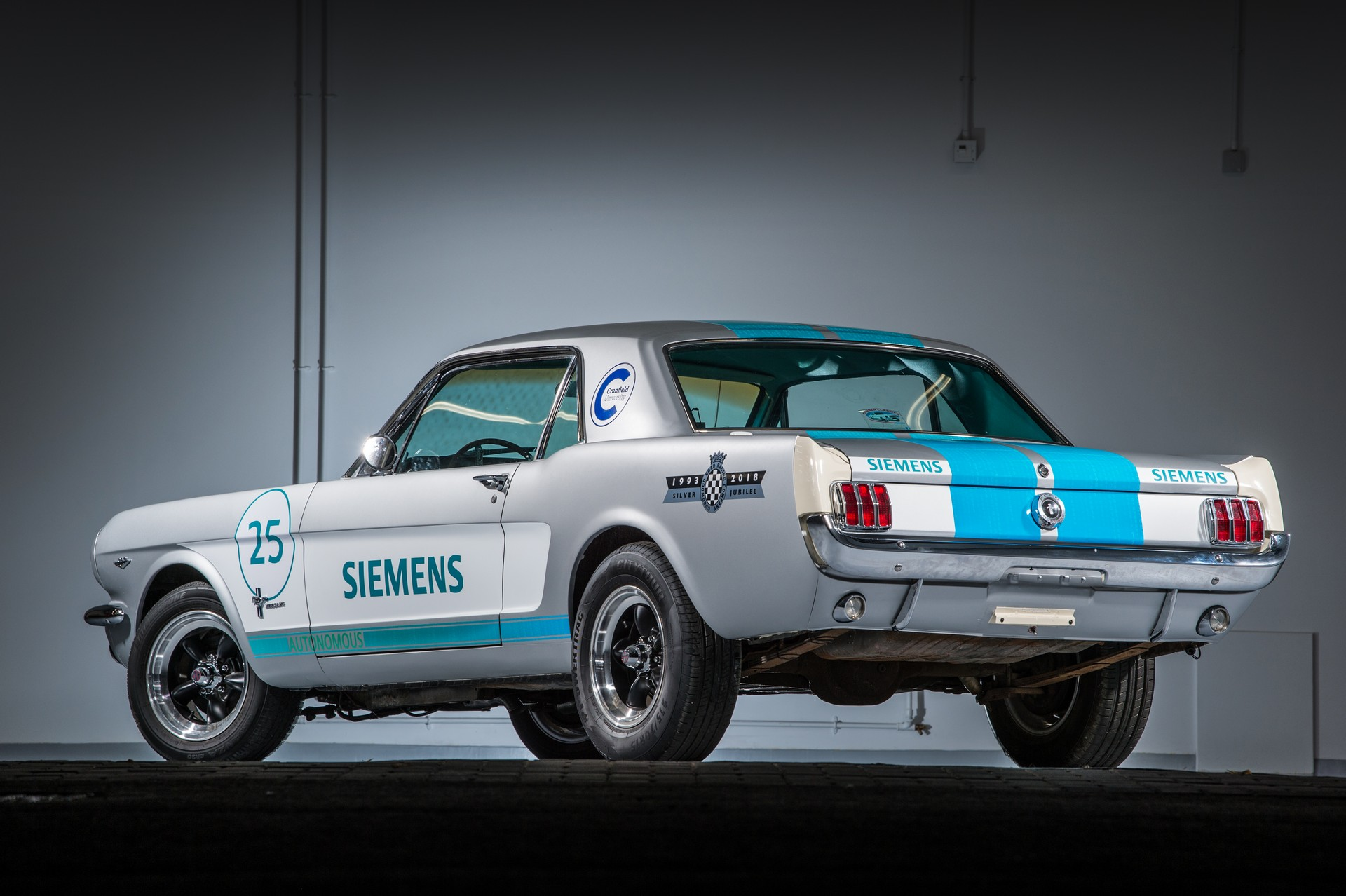 Autonomous 1965 Ford Mustang Nearly Crashes Several Times at Goodwood