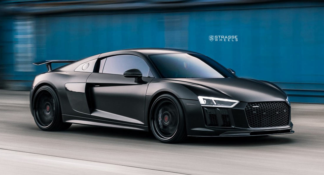 AllBlack Audi R V Plus Looks Like A FourWheel Stealth Bomber - Audi r8 black