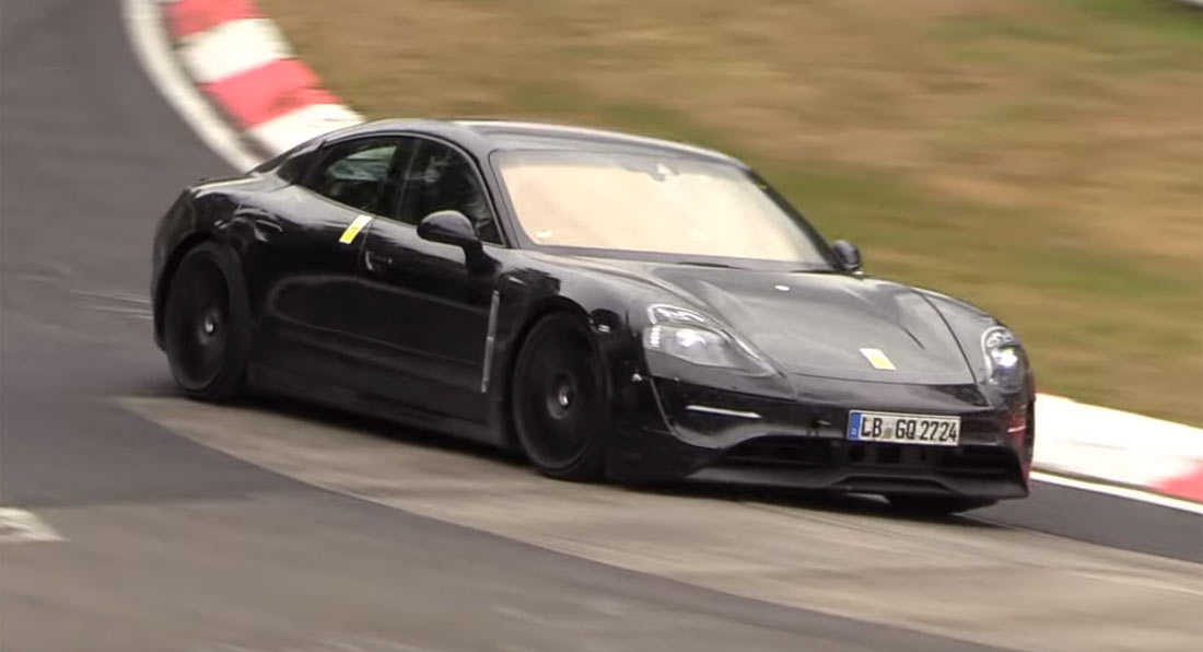 Shhh Porsche Taycan Goes Flat Out On The Ring