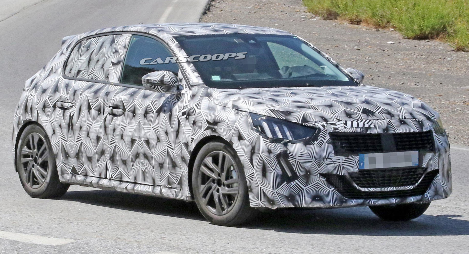 2019 peugeot 208 gti spied with a stylish new design carscoops. Black Bedroom Furniture Sets. Home Design Ideas