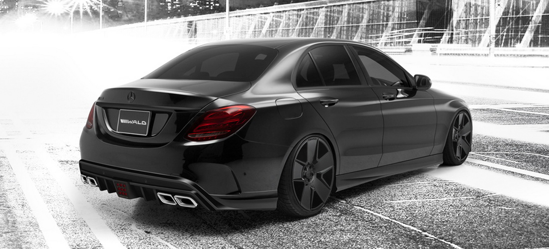Wald International Gives W205 Mercedes C Class A Sinister Look