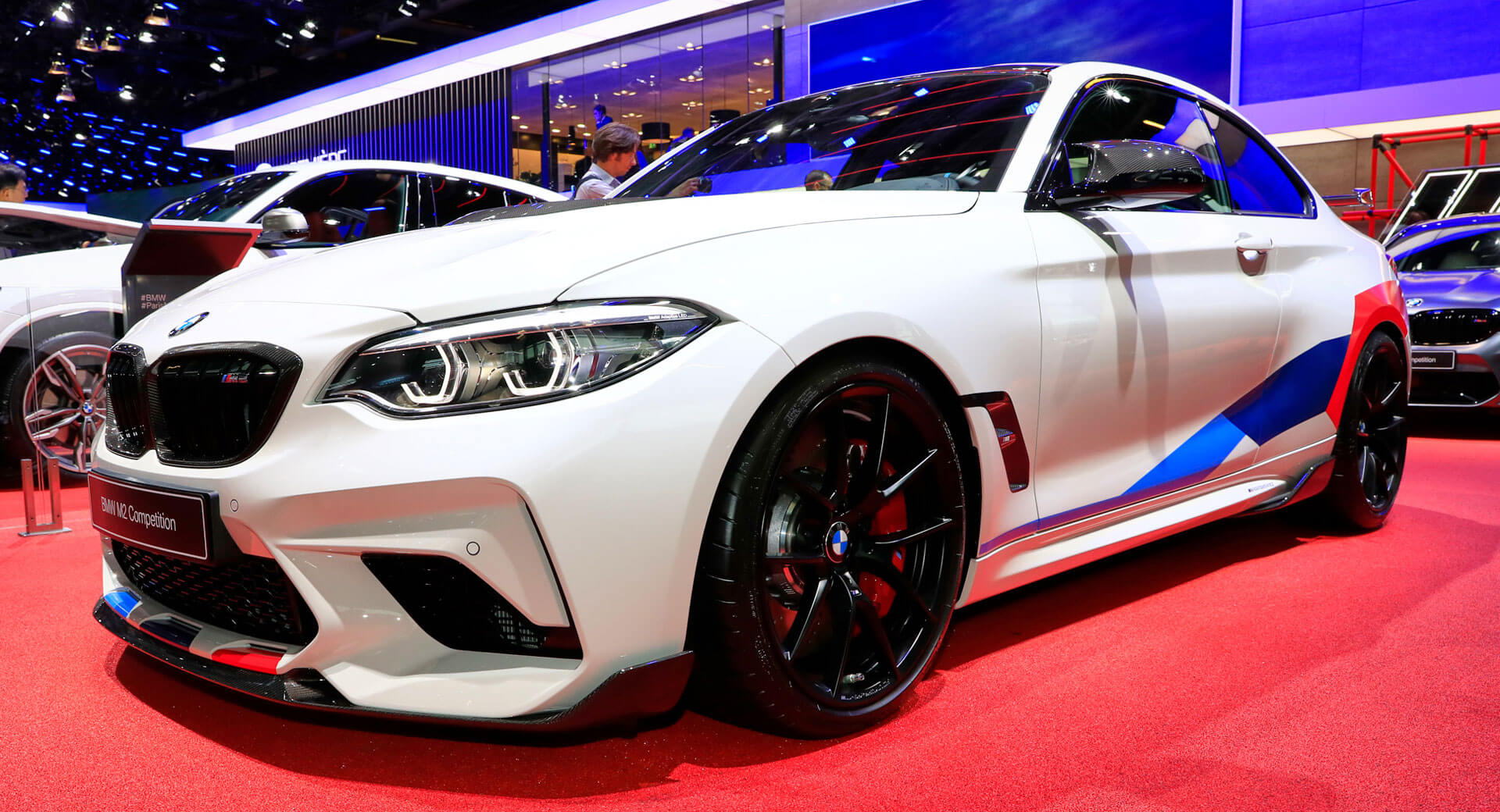 New Bmw M2 Competition Wears M Performance Parts For Paris Carscoops