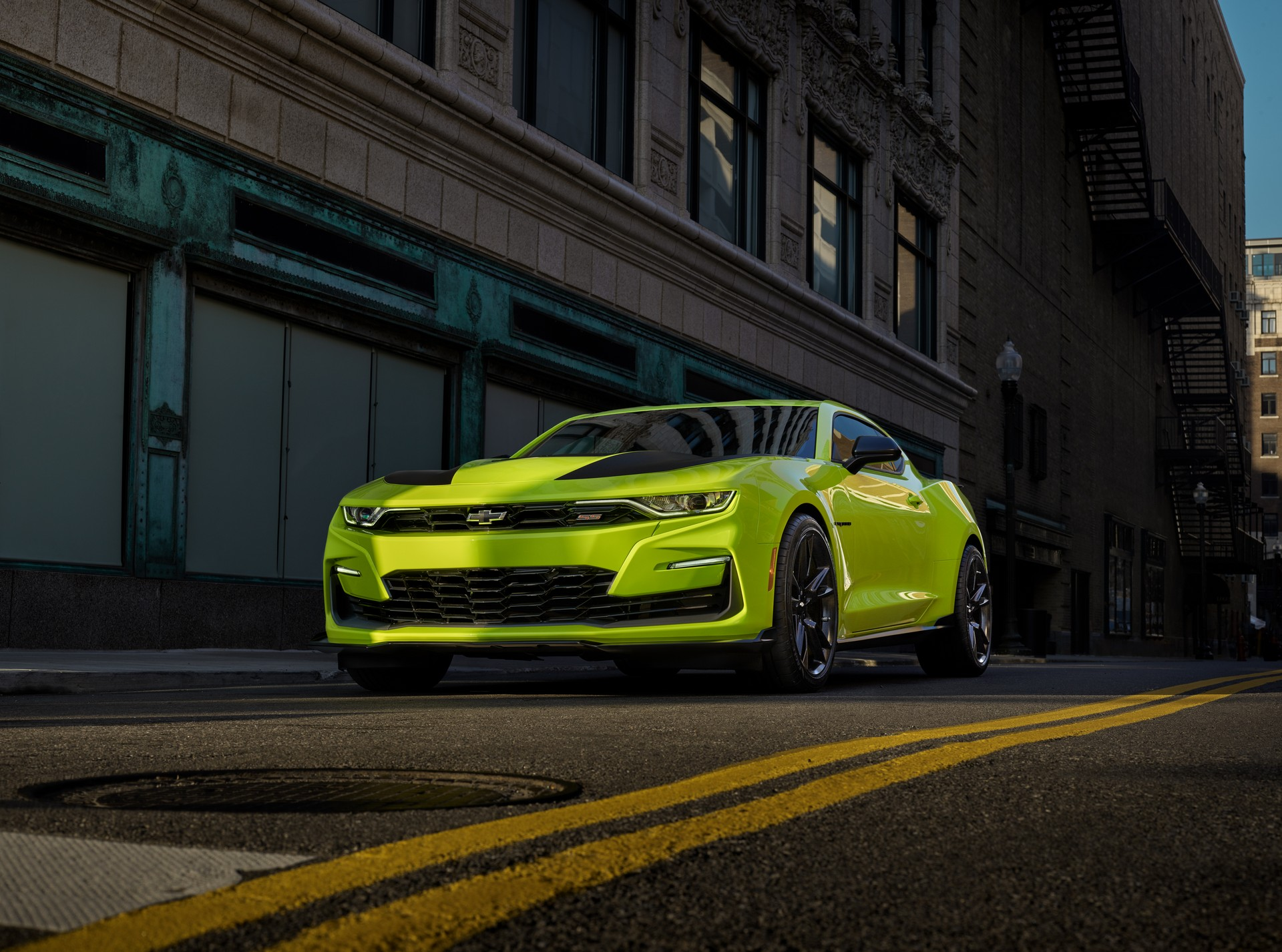 Chevrolet Camaro SS in Shock Yellow Preps for SEMA