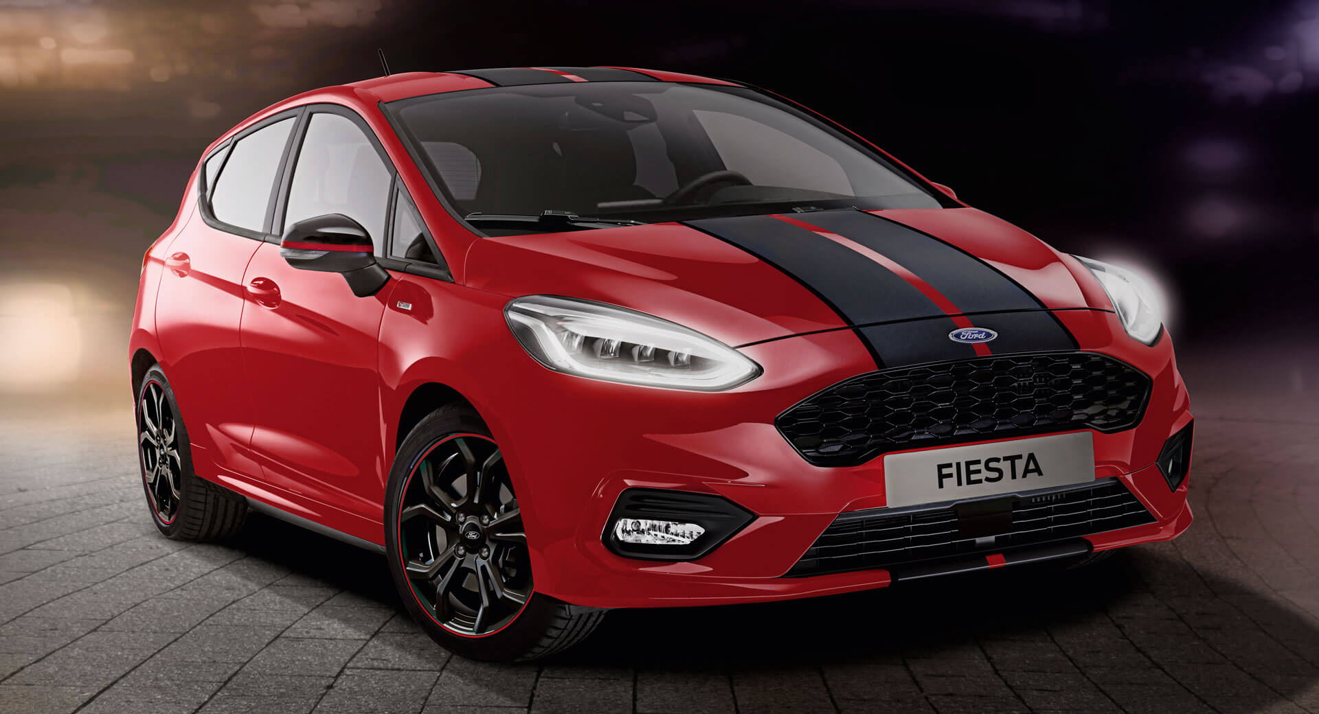 2019 ford fiesta st line red and black editions prove stripes go with everything carscoops