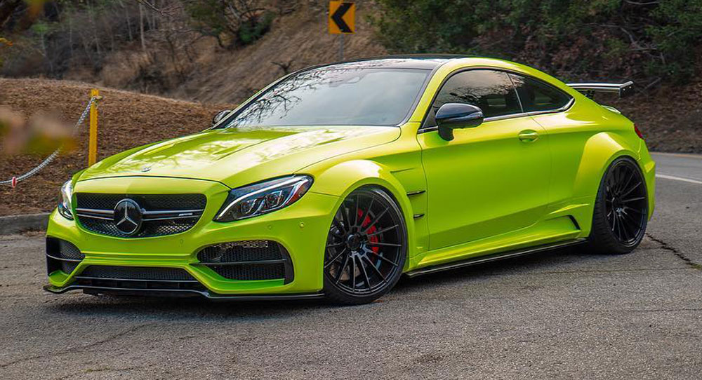 Lime Green Mercedes Amg C63 S Coupe Is One Flamboyant Ride Carscoops