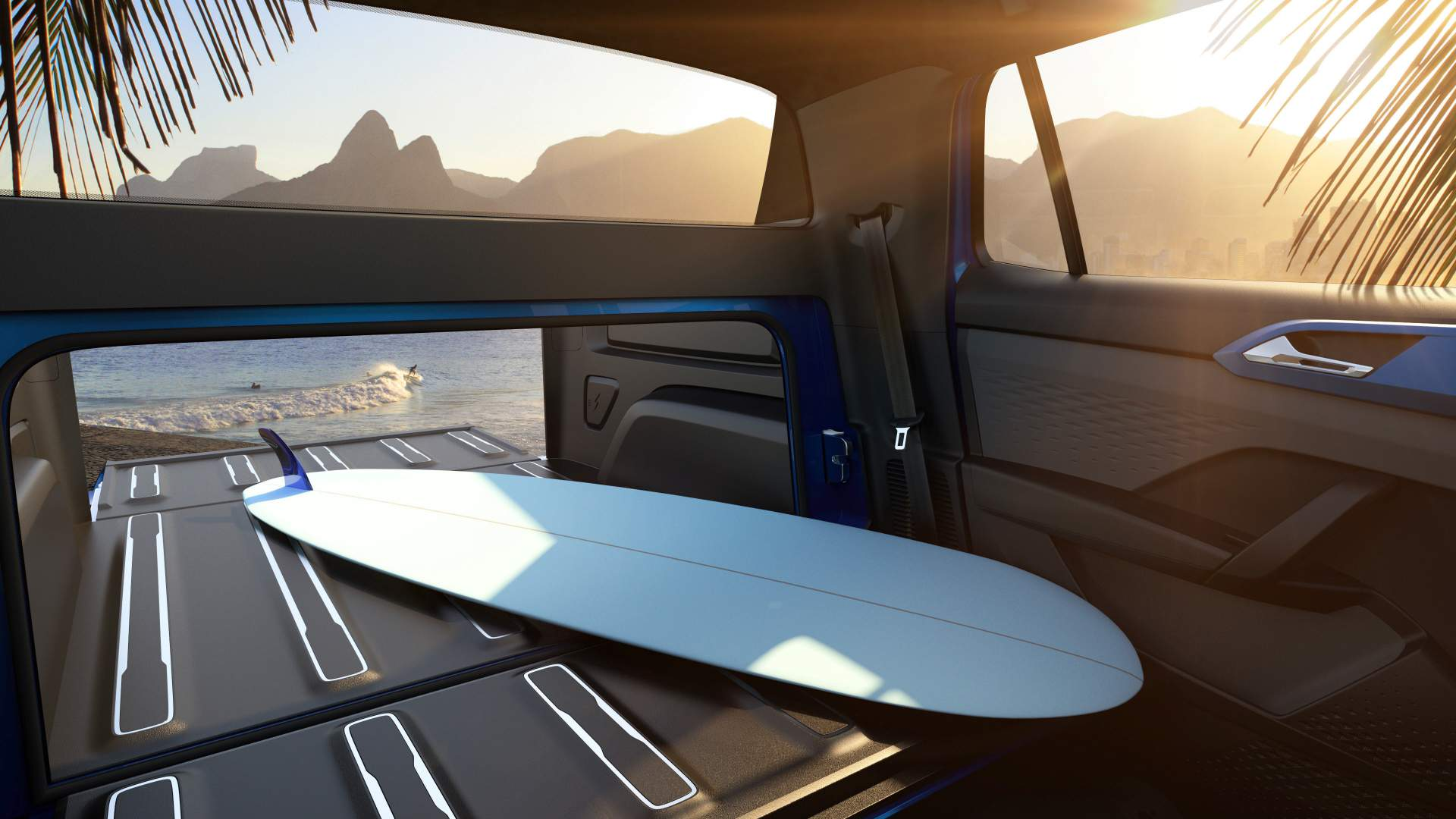 For The Casual Hauler: Volkswagen Reveals Cool Extendable Bed Pickup Concept
