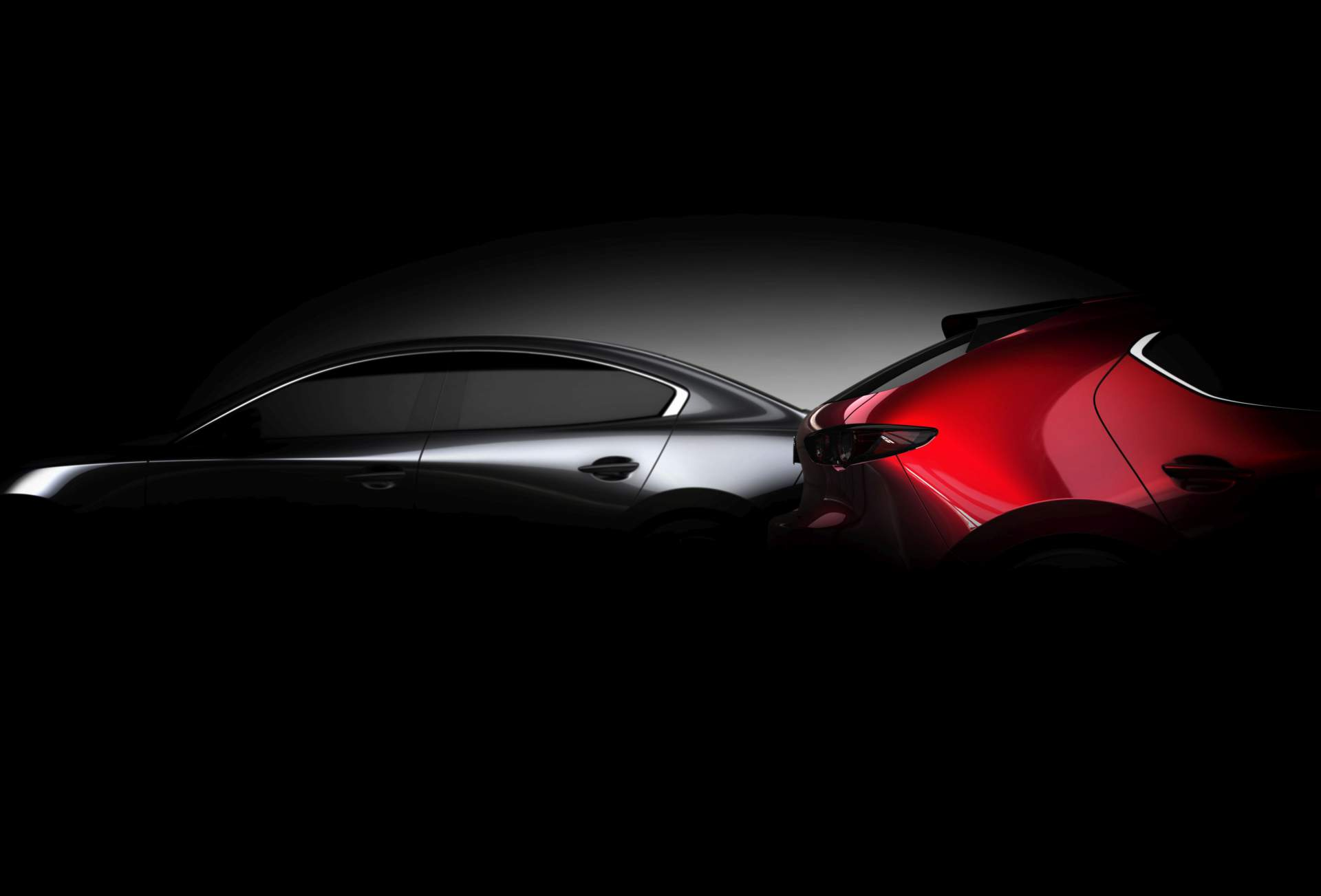 Mazda3 previewed again before LA show debut