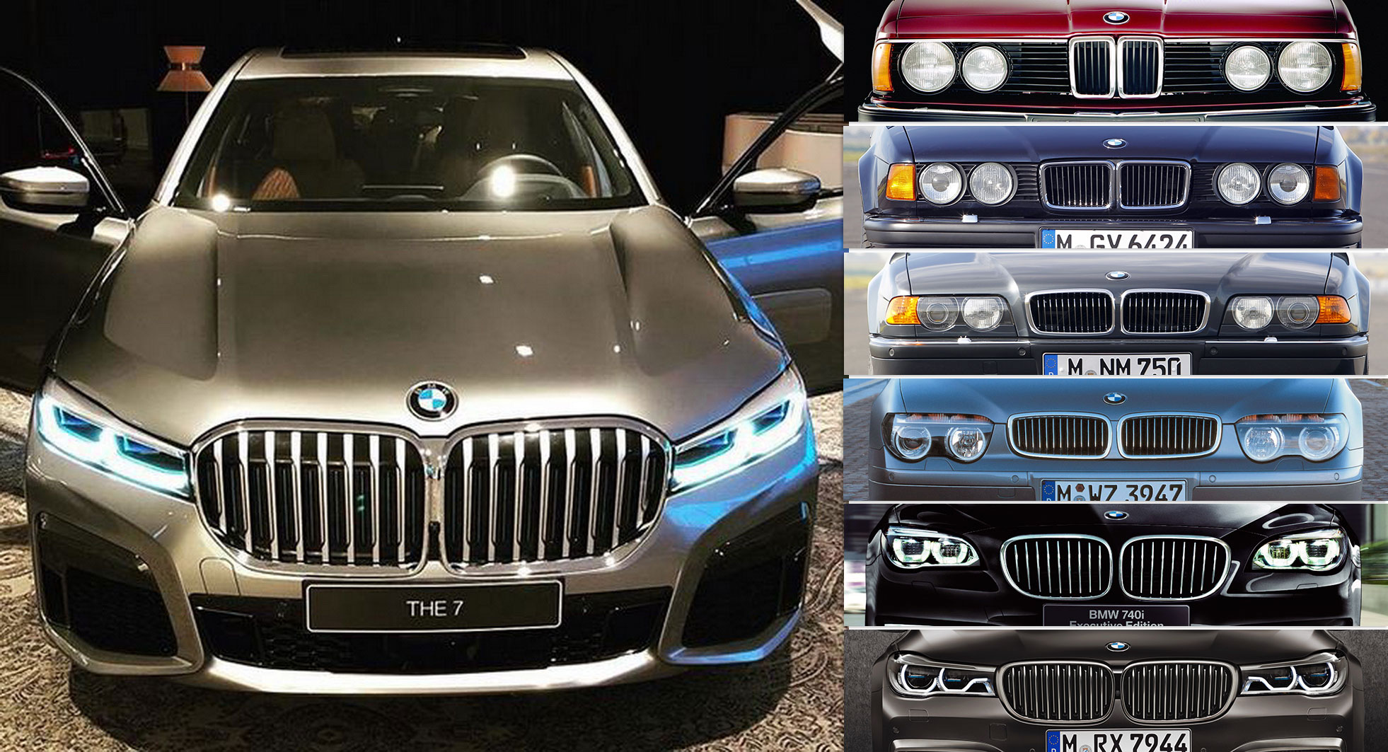 how bmw 39 s 7 series face evolved from glorious great white. Black Bedroom Furniture Sets. Home Design Ideas