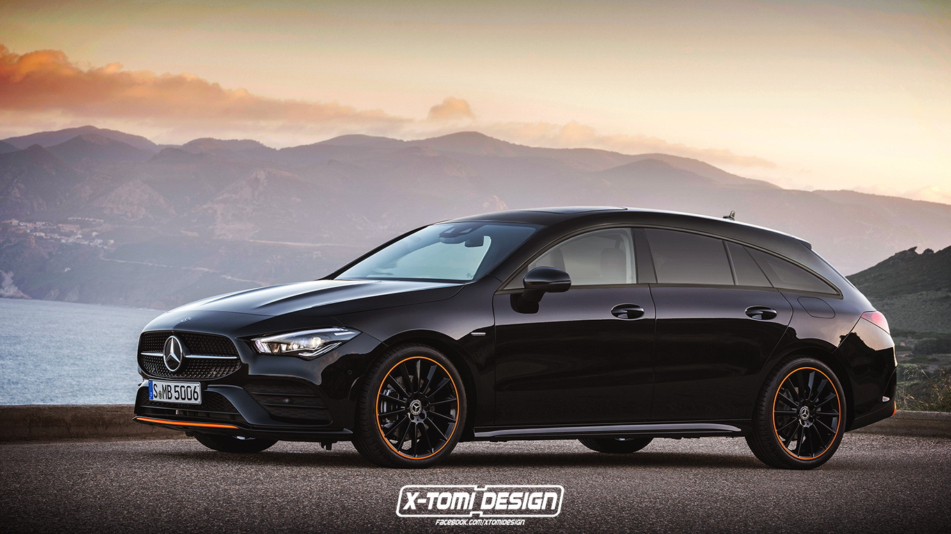 new mercedes benz cla will soon get a shooting brake body. Black Bedroom Furniture Sets. Home Design Ideas
