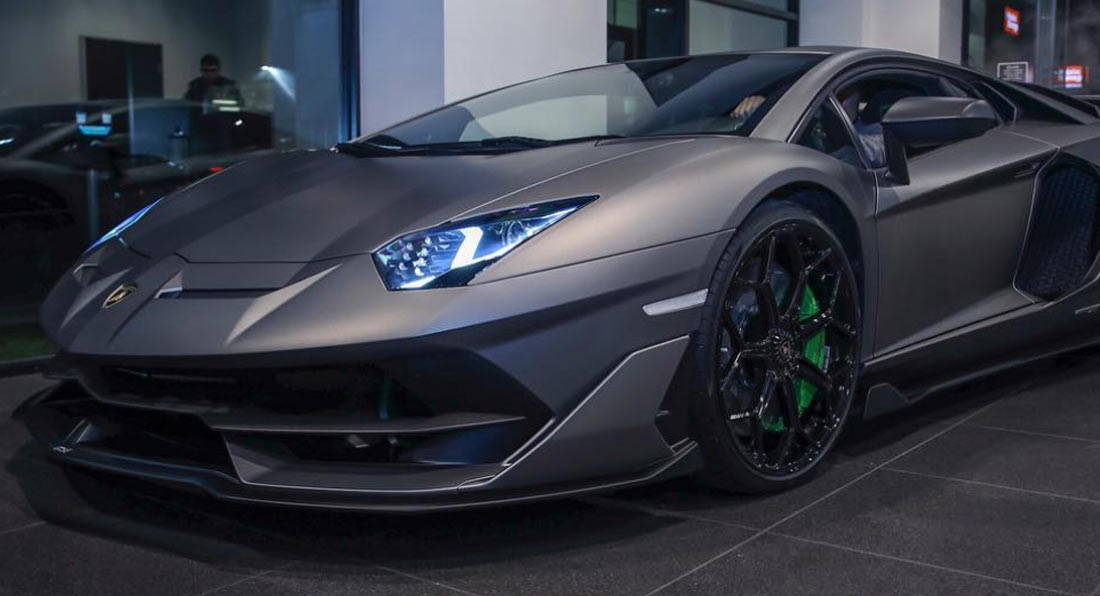 Matte Grey Lamborghini Aventador Svj Is A Road Going Stealth Bomber