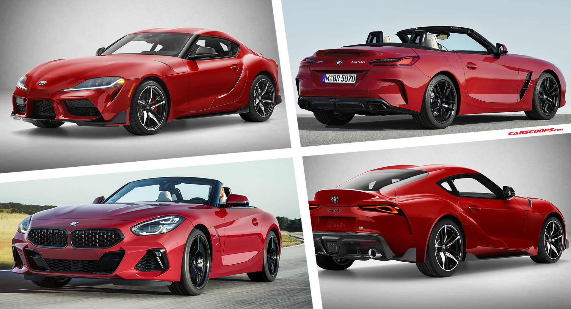 Toyota Supra Vs Bmw Z4 Separated At Birth Or Two