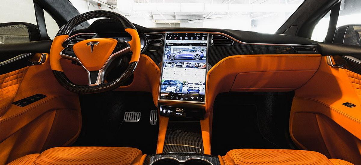 Orange And The All Black Meet T Sportline S Widebody Tesla Model X