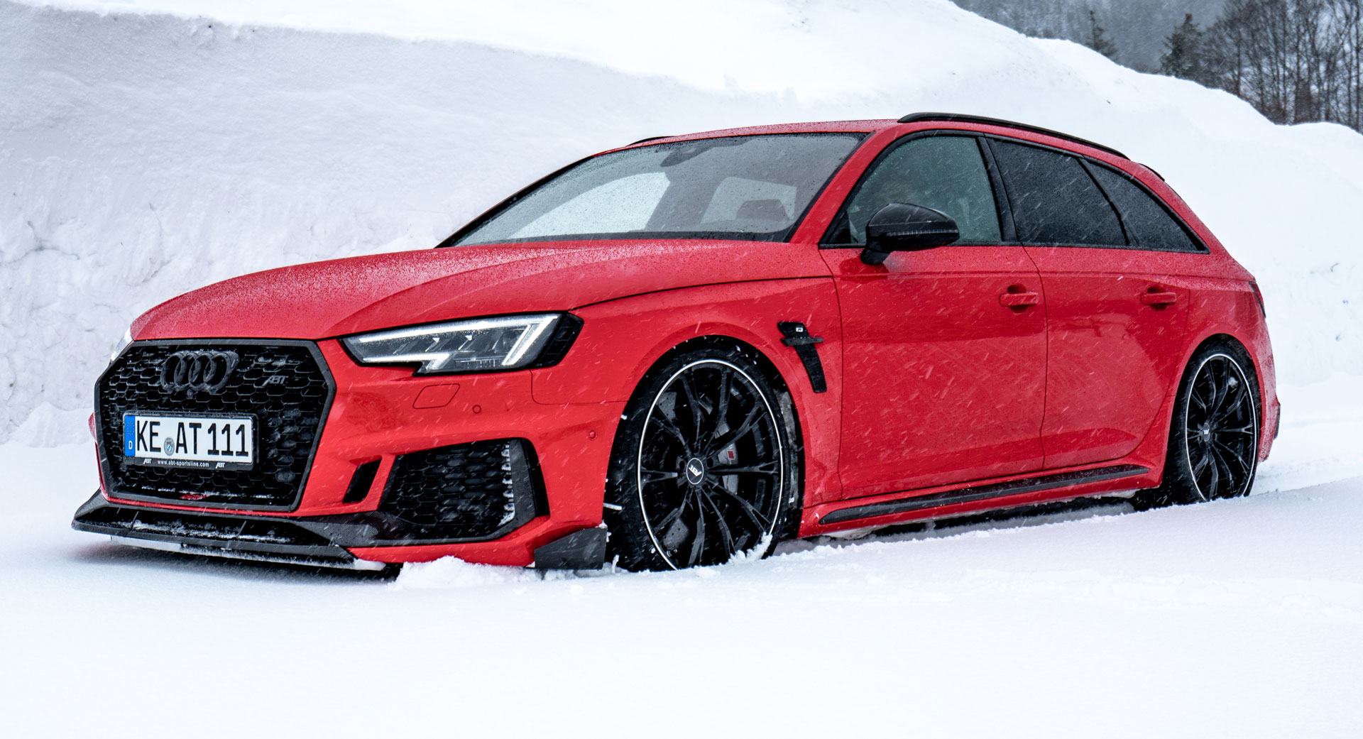 Abt Sportline Audi Rs4 Is A 500 Ps Snow Conquering Super