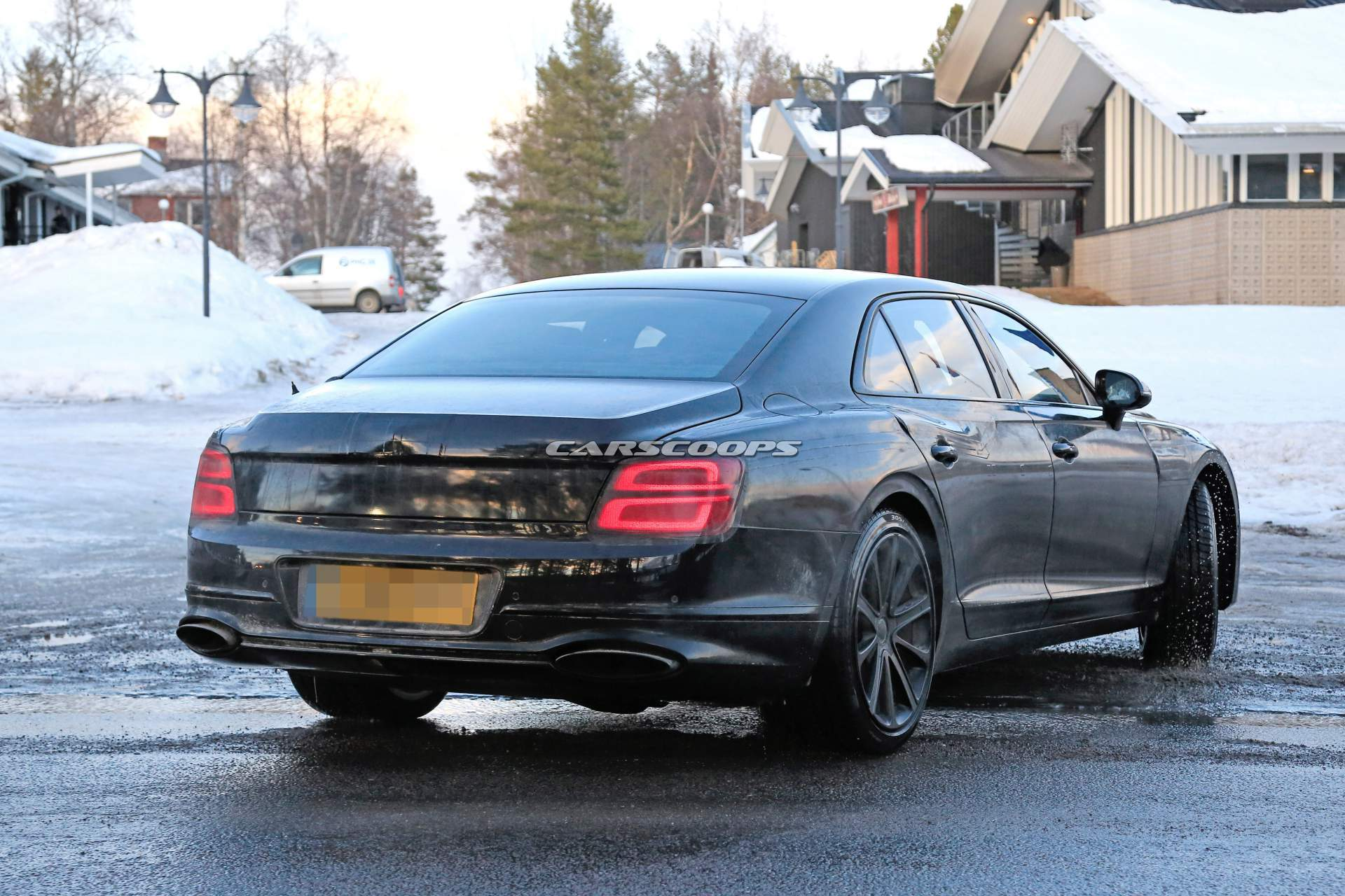 2020 Bentley Flying Spur Loses Padded Camo Wears Production Lights