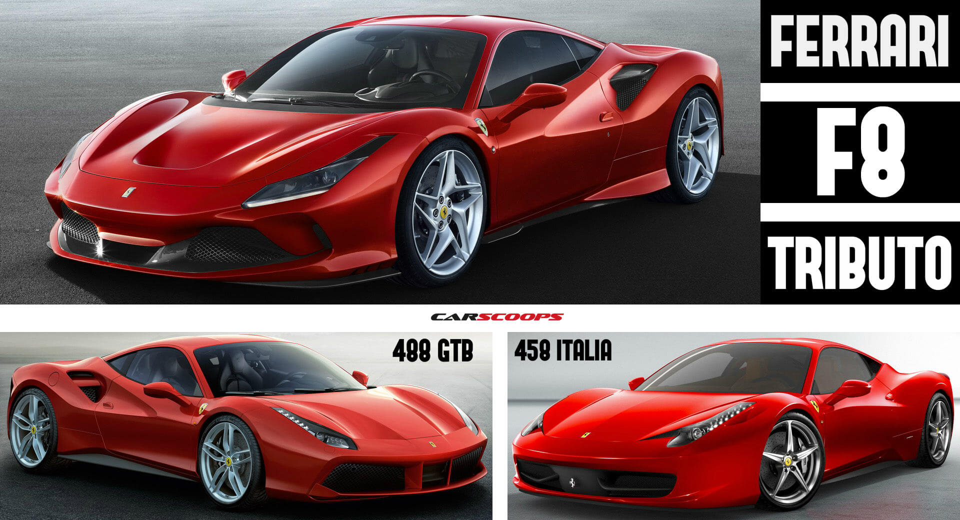 Ferrari F8 Tributo Vs 488 Gtb Vs 458 Italia A Stallion S Growth Carscoops