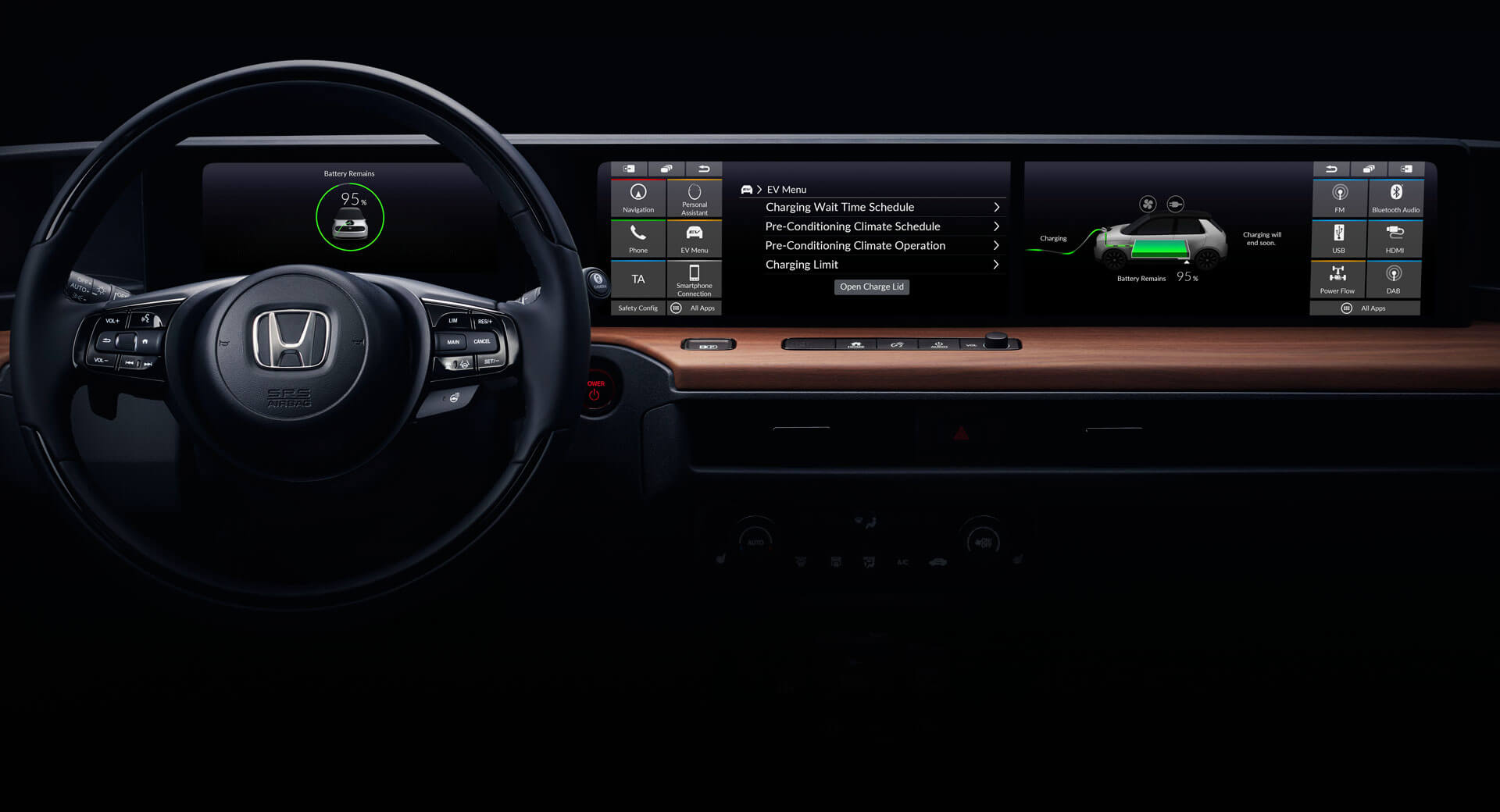 Hondas Ev Prototype Reveals Dashboard Design With Extra Wide Screen