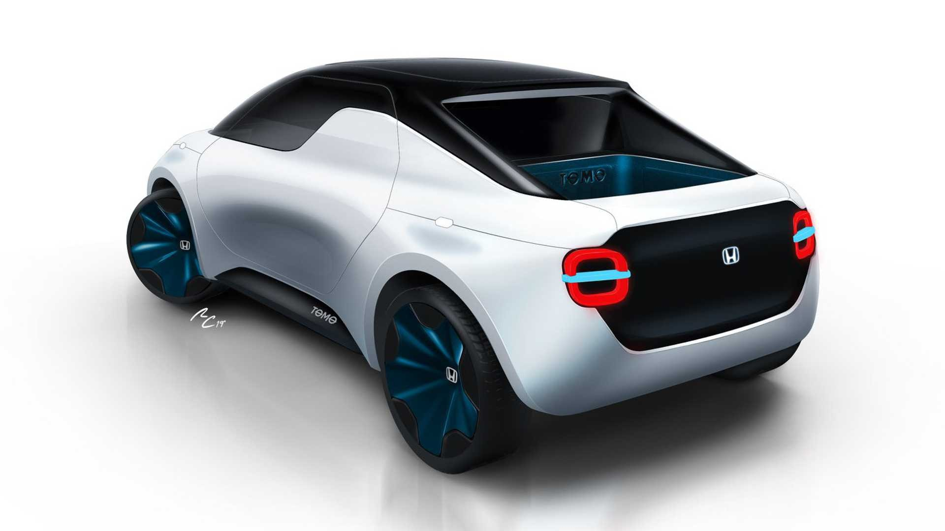 An Electric Transformer That Changes From Coupe To Pickup — Honda Tomo Concept